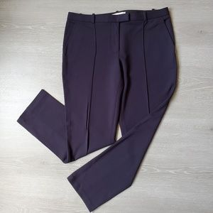 Tory Burch Slim Fit Trousers Navy Blue